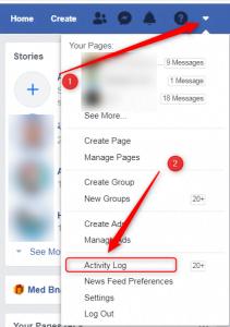 كيف أبحث عن منشور قديم على حسابي في فيسبوك
